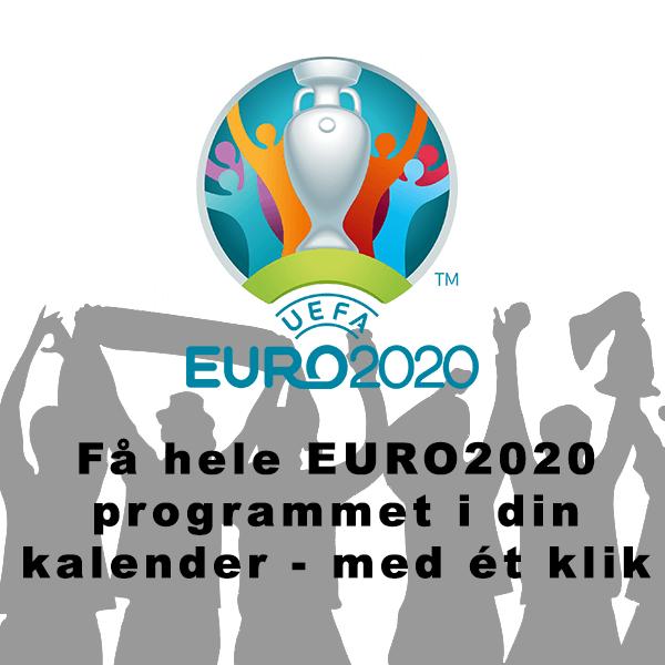 EURO2020 kalender